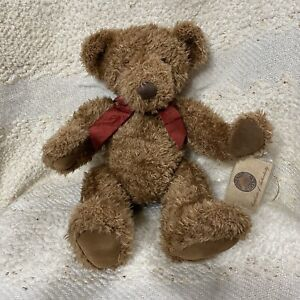 """New With Tag! Russ Vintage Collection """"Allington"""" brown jointed teddy bear 13"""""""