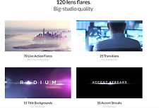 120 Lens Flares in 4K Ultimate Pack for Final Cut Pro X and Adobe (WIN/MAC)