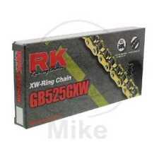 RK XW CATENA 525GXW/118 APERTO chiusura a perno oro / NERO gbrk525gxw/118