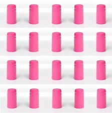 SHRINK CAPSULES 32 HOT PINK METALLIC LOOK PVC HEAT SHRINKS CAPS FOR WINE BOTTLES
