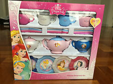 Disney Princess Dinnerware Set Pretend Toy Tea Pot Bowl Cup Fork Plate 26 Piece