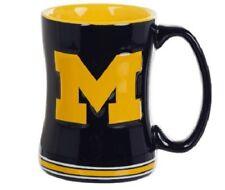 Michigan Wolverines Coffee Mug Relief Sculpted Team Color Logo 14 oz NCAA