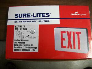 COOPER LIGHTING  SURE-LITES LED EXIT/EMERG. SIGN (CX71WHSD)