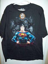 Superman Black T-Shirt Medium