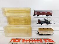 CI935-0,5# 3x Trix Int. H0/DC Güterwagen: 3607 GOE+23521 DRG+23578 DB, NEUW+OVP