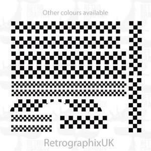 Vespa PX graphics   stickers   BIG 2 TONE SET   Ska Checks   skinhead mod
