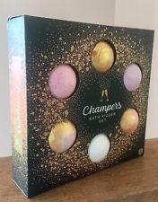 6 X Champers Bath Bombs Fizzers Gift Set Secret Santa Pamper Christmas Champagne