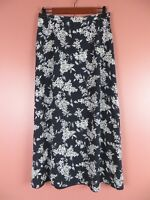 SK11352- TALBOTS Woman 100% Pure Silk Full Skirt Multi-Color Floral Sz 8