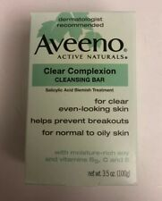Aveeno Facial Bars Clear Complexion Cleansing Bar 3.5 oz EXP 4/2016 Collectable
