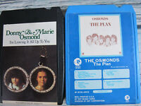 2 Donny & Marie Osmond 8 Track Tapes I'l Leaving It All Up To You / The Plan