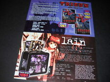 TRIGUN and LAIN dual 2000 Vintage ANIME Promo Ad mint condition