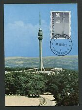 Yu Mk 1965 uit Fernsehturm avala maximum tarjeta Carte maximum card mc cm d3064