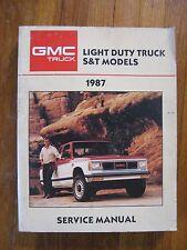 1987 GMC Jimmy S/T S-15 Truck Service Repair manual