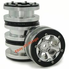 4pcs 1.9 Alloy Beadlock Wheels Rims Fit 1/10 RC 4WD Axial Gmade 1.9 Crawler Tire