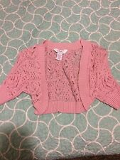 juniors small pink candies cropped cover up cardigan
