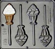 Ice Cream Sundae Lollipop Chocolate Candy Mold  260 NEW