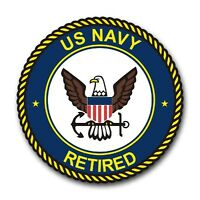 """US Navy Retired 5.5"""" Decal / Sticker 'Officially Licensed'"""