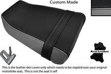 BLACK & GREY CUSTOM FITS SUZUKI GSXR GK73A 400 CC REAR LEATHER SEAT COVER ONLY