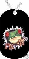 *Military Dog Tags - Cute Frog Bustin - Engraved Free!*