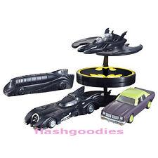 CharaWheels BATMAN Batmobile Joker Goon Car Batwing Diecast SET Bandai 2004 VHTF