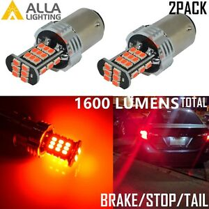 Alla Lighting 1156 30-LED Brake/ Tail/ High Stop Lights Bulbs Lamps,Vivid Red