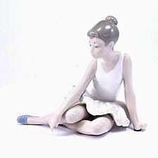 Vintage Nao Lladro ballet Seated Ballarina Figure sitting up