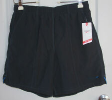 Speedo Swim Trunks Large Navy Blue 100% Polyester Net Lining New With Tags