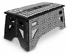eXpace Folding Step Stool, 13-Inch Wide, Non-Slip for Indoor and Outdoor Use, Ad