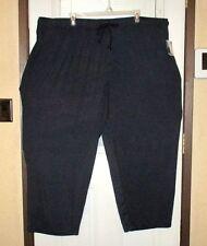 NWT HARBOR BAY Sleep/Lounge Pants BIG 4XL- 6XL Navy Blue Polyester Knit FAST SHI