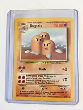 DUGTRIO 19/102 ENGLISH Vintage Base Set RARE Pokemon NEAR MINT CONDITION Card