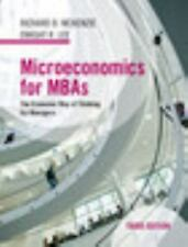 Microeconomics for MBAs : The Economic Way of Thinking for Managers: By McKen...