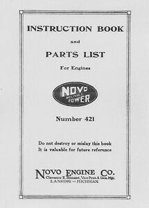 Novo Instruction Book and Parts List Number 421