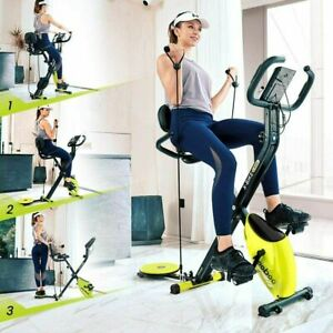 Brand New Home Folding Stationary Upright Indoor Cycling Exercise Bike with LCD