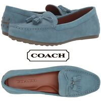 Coach Gia Driver Loafers Women's Casual Flats Slip On Shoes Moccasins NIB