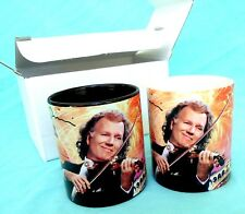 Andre Rieu Signature Coffee Mugs (Set of Two) 2016 Official Tour Merchandise
