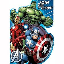 AVENGERS INVITATIONS PACK OF 8 BIRTHDAY PARTY SUPPLIES
