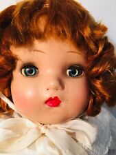 "Red Headed 1950's Horsman Baby Doll Blue Lashed Sleep Eyes 23"" Beautiful Face"