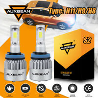 AUXBEAM H11 H9 H8 72W Turbo LED Headlight Bulb Kit Low/Fog Light White 6500K S2