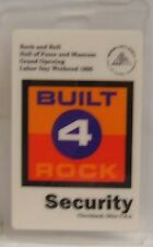 Rock And Roll Hall Of Fame Grand Opening - Original Laminate Backstage Pass