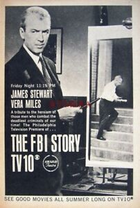 'The FBI Story' Film 1964 TV Showing Advert Print - Small Movie Ad to Frame
