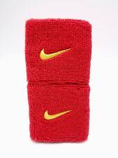 "Nike Swoosh Wristbands Sport Red/Tour Yellow 3"" Men's Women's"