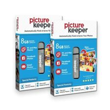 Picture Keeper 8GB Flash USB EASY Backup/ Storage Device for Computers-(2x Pack)