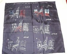 Robert Delaunay Beautiful Illumination of Paris 100% Silk Scarf Made in France!