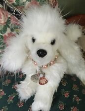 Beautiful, Rare Fuzzy Nation 'Love on a Leash' White Poodle Puppy Purse Handbag