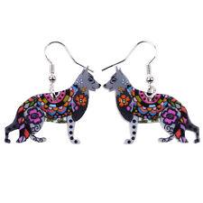 BONSNY German Shepherd earrings  Alsatation Dog jewellery Charm pet women girls