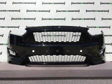 FORD FOCUS ZETEC S 2015-2017 FRONT BUMPER IN BLACK GENUINE [F180]