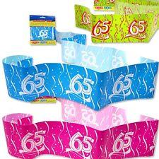 Deko-Absperrband zum 65. Geburtstag, 15m lang, 7,5cm breit, in 3 Farben