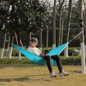 Outdoor Camping Hiking Picnic Hanging Swing Nylon Hammock Sets Portable Summer