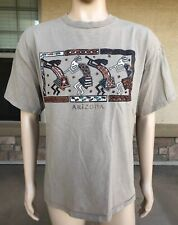 Vintage Arizona Tourist T Shirt Navajo Tribal Indian Native Sportex USA Made XL