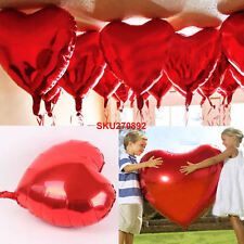 10 Heart Foil Helium Balloons Valentines Day Wedding Party Birthday Decoration